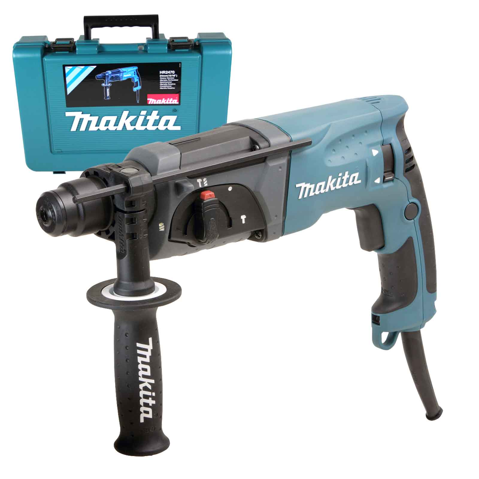 makita kombihammer hr2470 im koffer sds plus nachfolger vom hr2450 ma50431 ebay. Black Bedroom Furniture Sets. Home Design Ideas