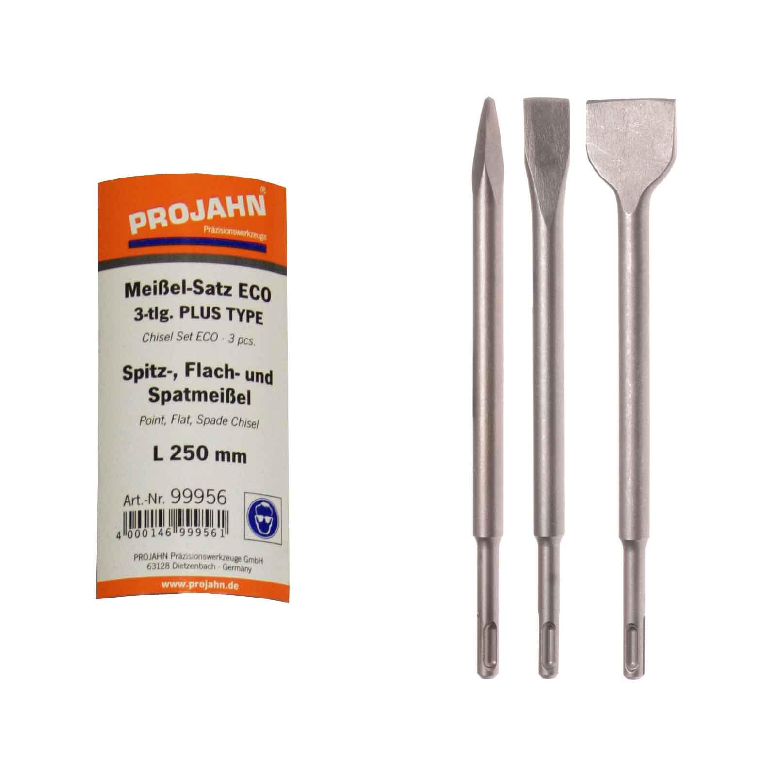 Projahn SDS-max Meißelsatz Spitzmeißel Flachmeißel und Spatmeißel